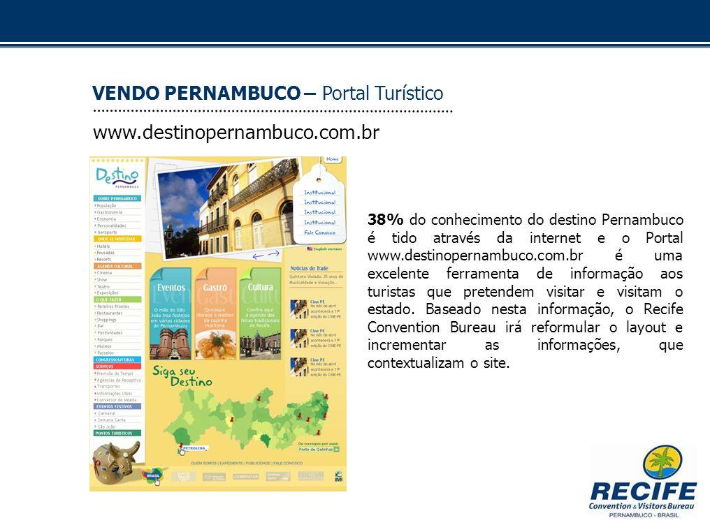 www.destinopernambuco.com.br VENDO PERNAMBUCO – Portal Turístico