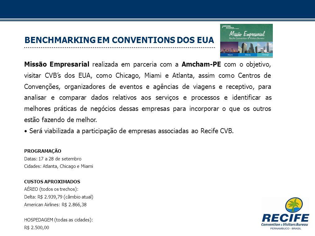 BENCHMARKING EM CONVENTIONS DOS EUA