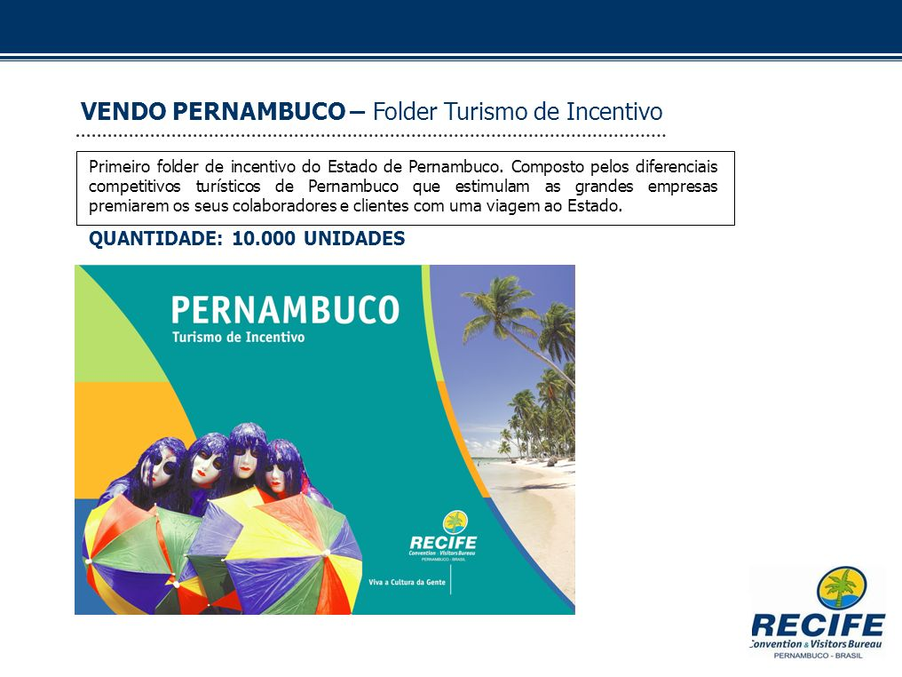VENDO PERNAMBUCO – Folder Turismo de Incentivo