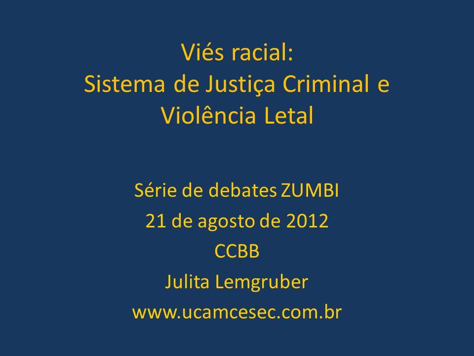 Viés racial: Sistema de Justiça Criminal e Violência Letal