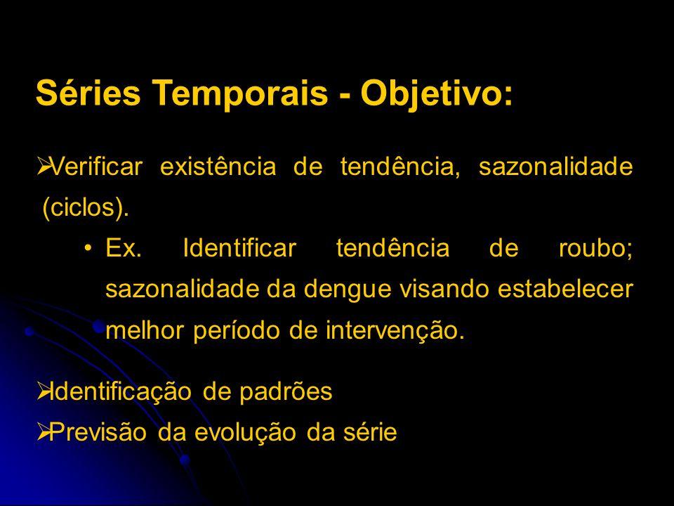 Séries Temporais - Objetivo: