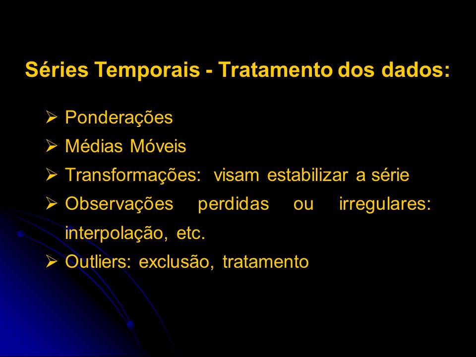 Séries Temporais - Tratamento dos dados: