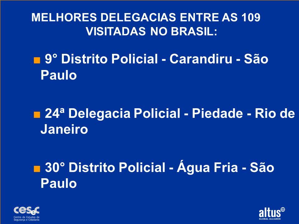 MELHORES DELEGACIAS ENTRE AS 109 VISITADAS NO BRASIL: