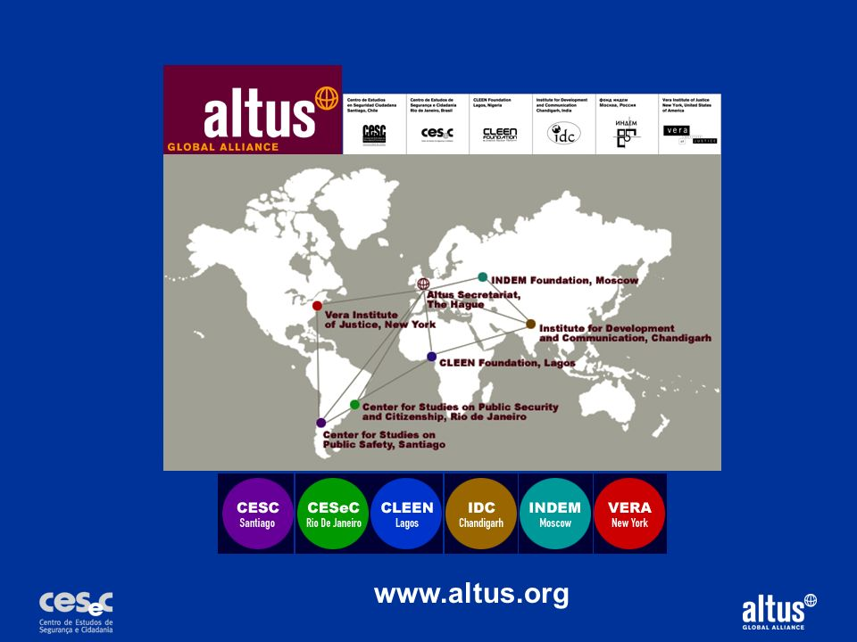 The Altus alliance is a global alliance, with members on five continents. But the principles of an alliance as a way of working across boundaries can be applied regionally and even within a complex nation as well.