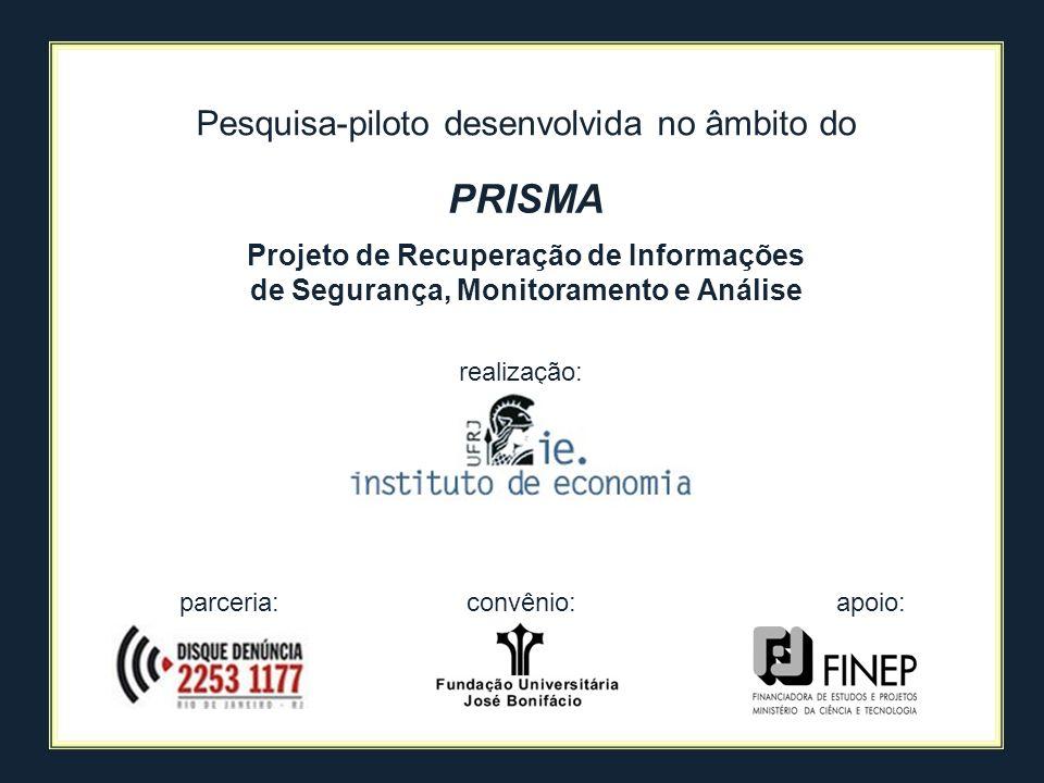 PRISMA Pesquisa-piloto desenvolvida no âmbito do