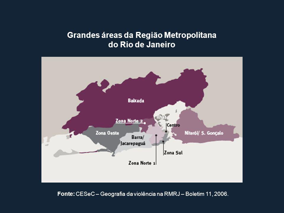 Grandes áreas da Região Metropolitana do Rio de Janeiro