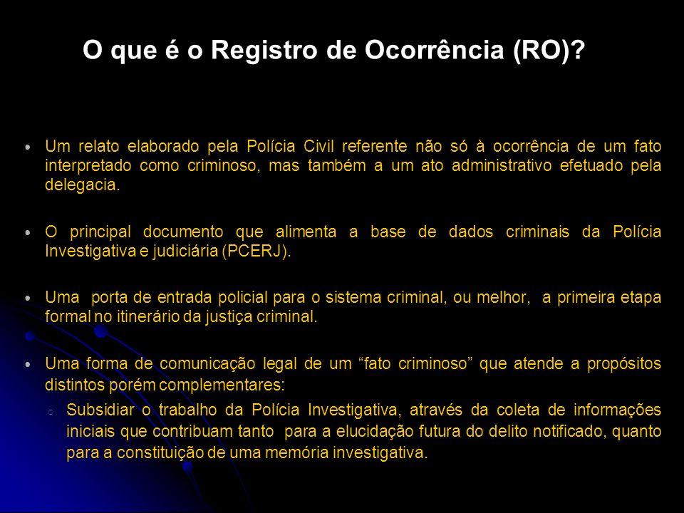 O que é o Registro de Ocorrência (RO)
