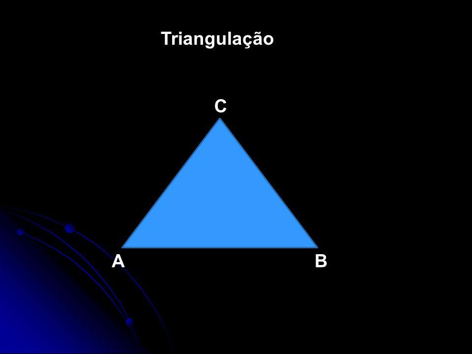 Triangulação C A B