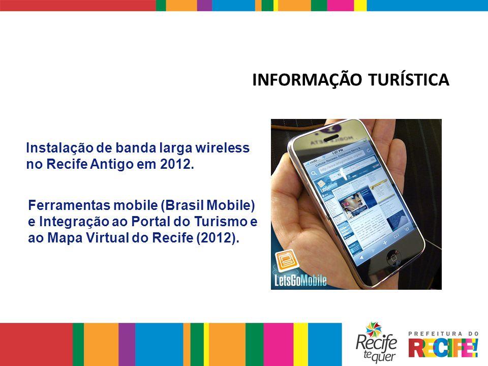 INFORMAÇÃO TURÍSTICA Instalação de banda larga wireless no Recife Antigo em 2012.