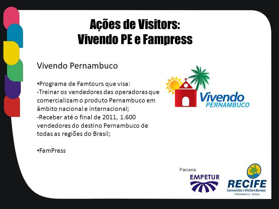 Ações de Visitors: Vivendo PE e Fampress Vivendo Pernambuco