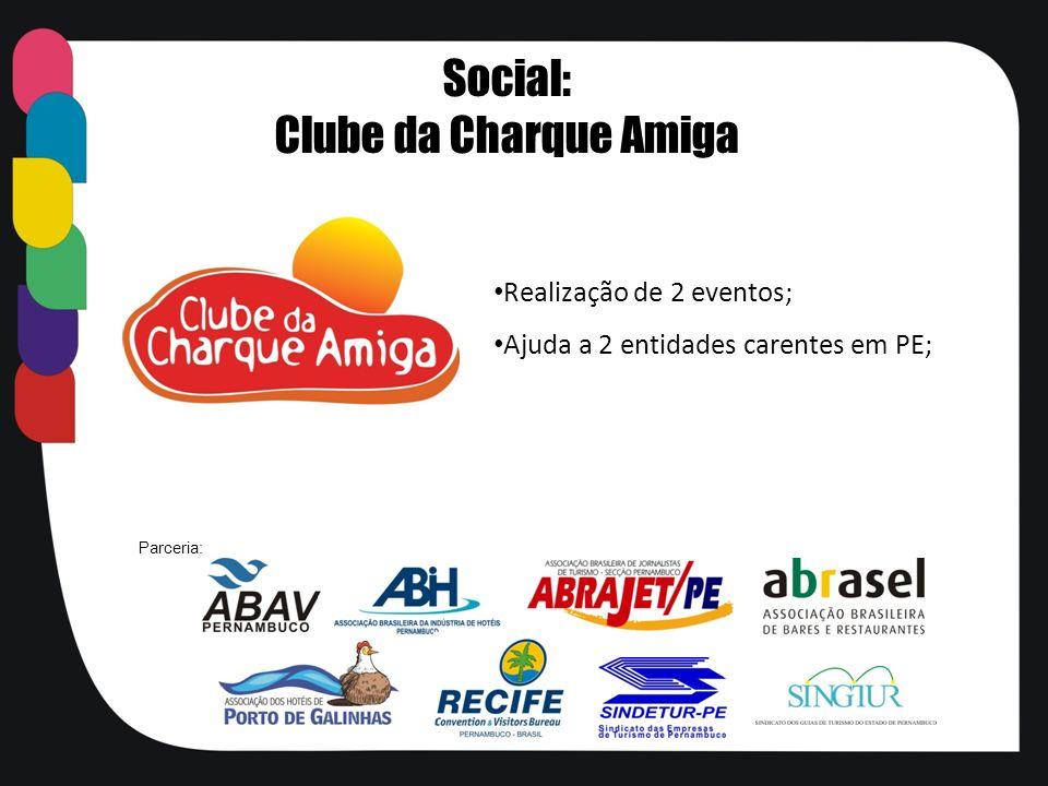 Social: Clube da Charque Amiga Realização de 2 eventos;