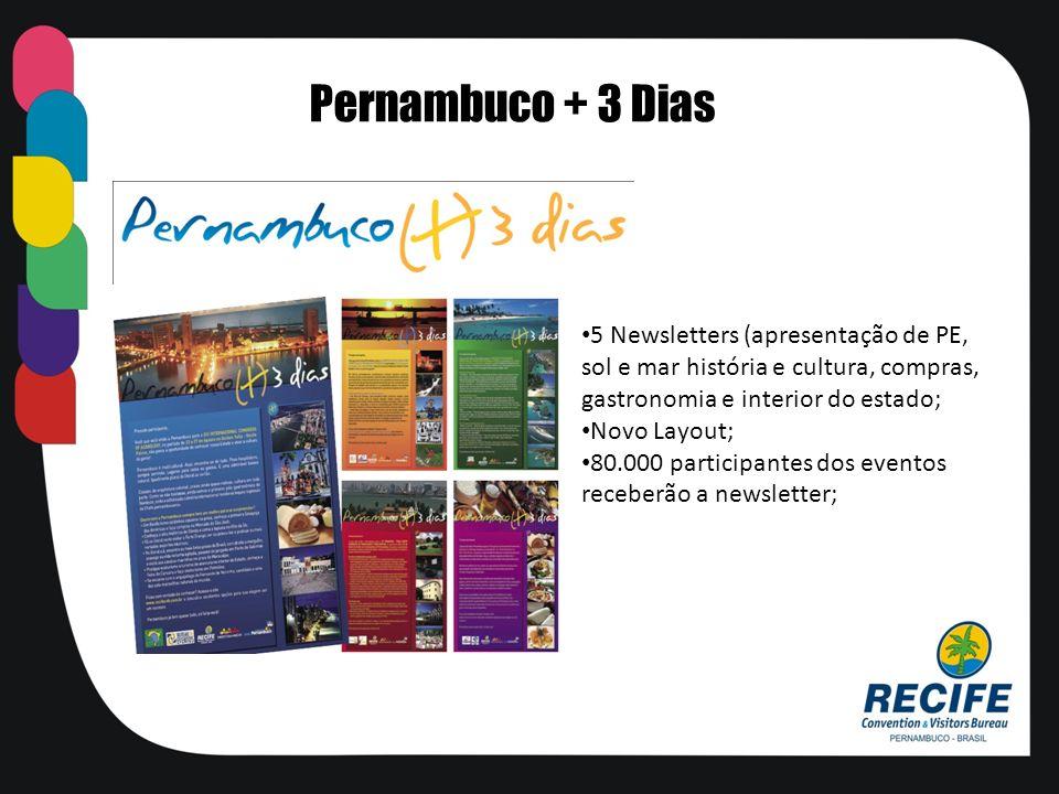 Pernambuco + 3 Dias 5 Newsletters (apresentação de PE,