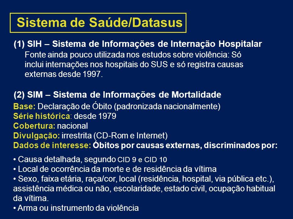Sistema de Saúde/Datasus