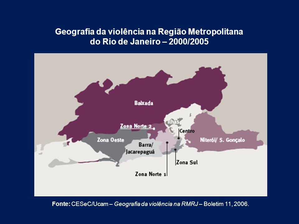Geografia da violência na Região Metropolitana