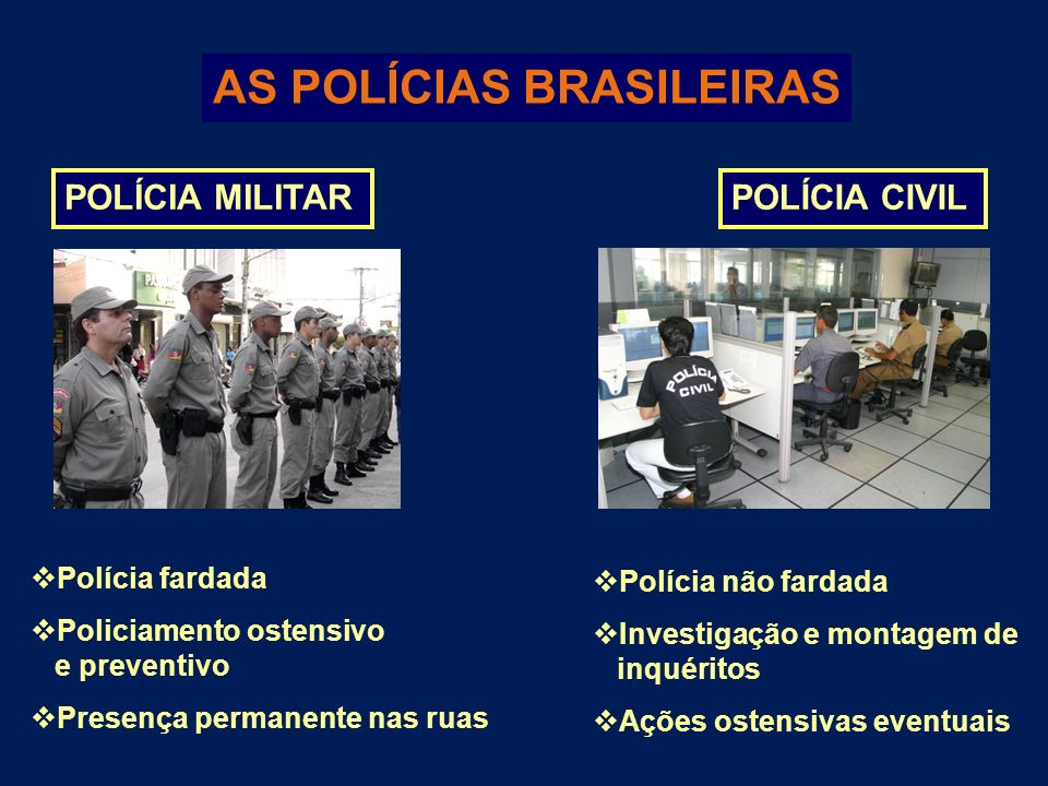 AS POLÍCIAS BRASILEIRAS