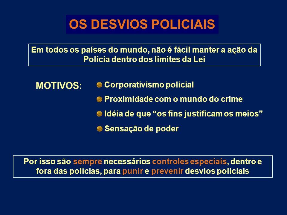 OS DESVIOS POLICIAIS MOTIVOS: