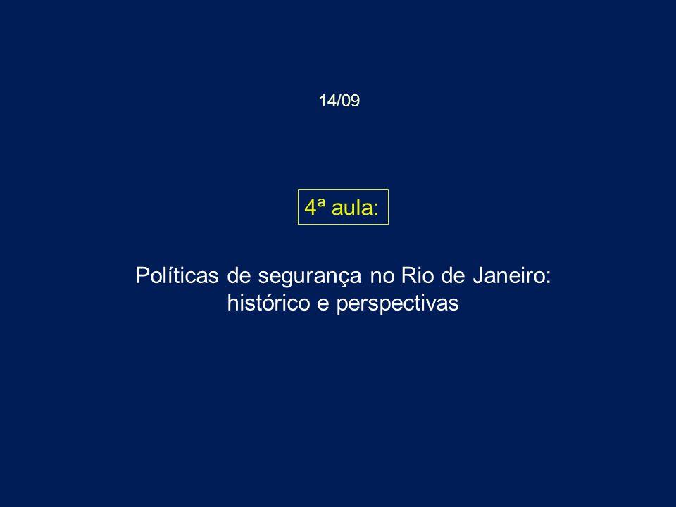Políticas de segurança no Rio de Janeiro: histórico e perspectivas