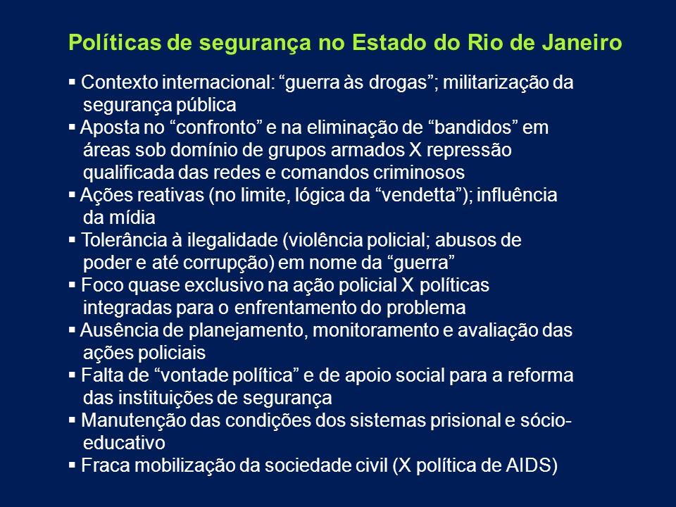 Políticas de segurança no Estado do Rio de Janeiro