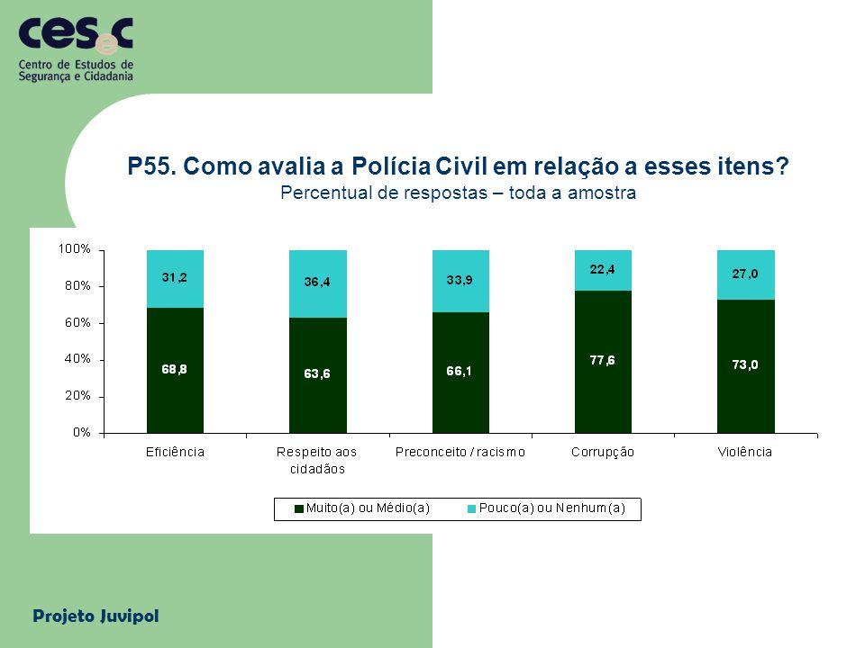 P55. Como avalia a Polícia Civil em relação a esses itens