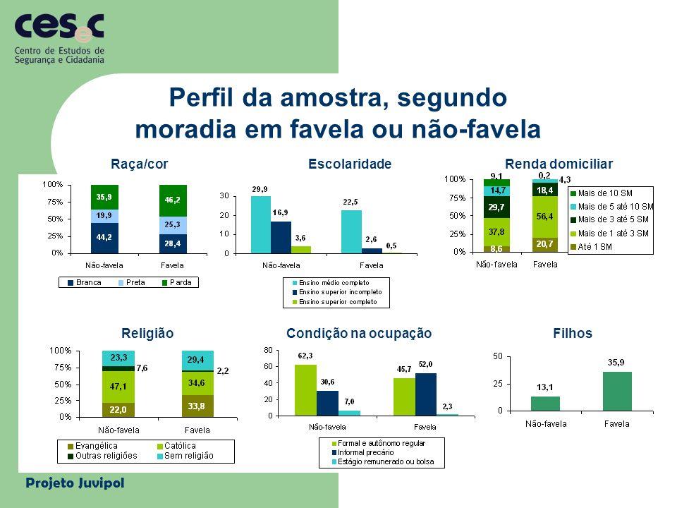 Perfil da amostra, segundo moradia em favela ou não-favela