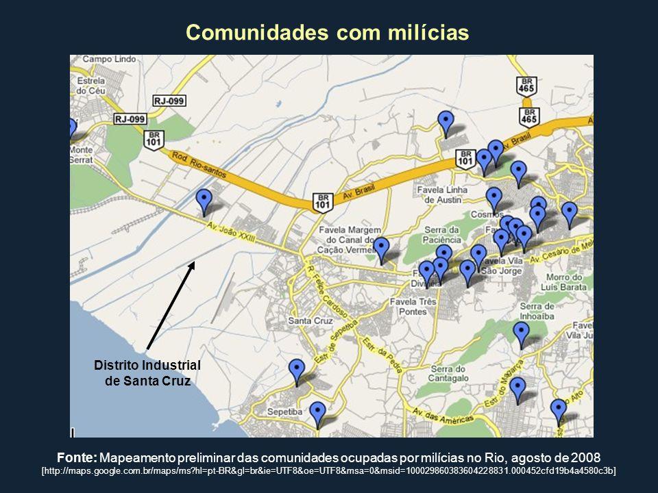 Comunidades com milícias