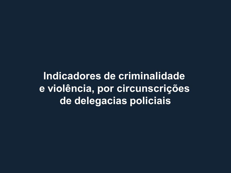 Indicadores de criminalidade e violência, por circunscrições