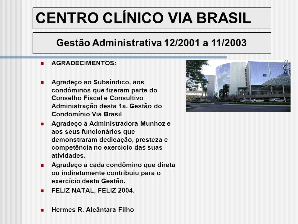 Gestão Administrativa 12/2001 a 11/2003