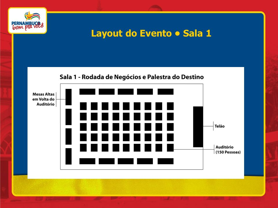 Layout do Evento • Sala 1