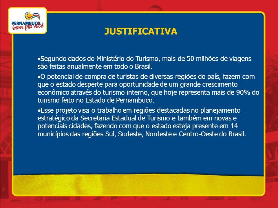 JUSTIFICATIVA Segundo dados do Ministério do Turismo, mais de 50 milhões de viagens são feitas anualmente em todo o Brasil.