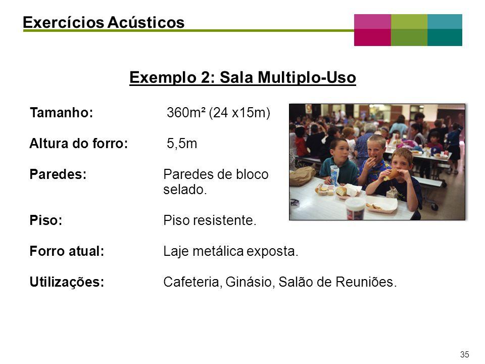 Exemplo 2: Sala Multiplo-Uso