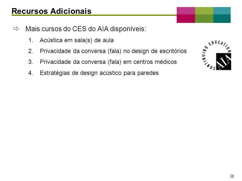 Recursos Adicionais Mais cursos do CES do AIA disponíveis: