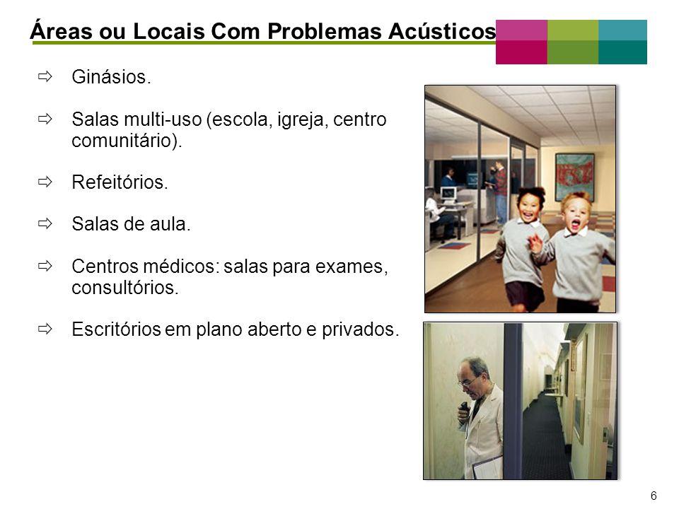 Áreas ou Locais Com Problemas Acústicos