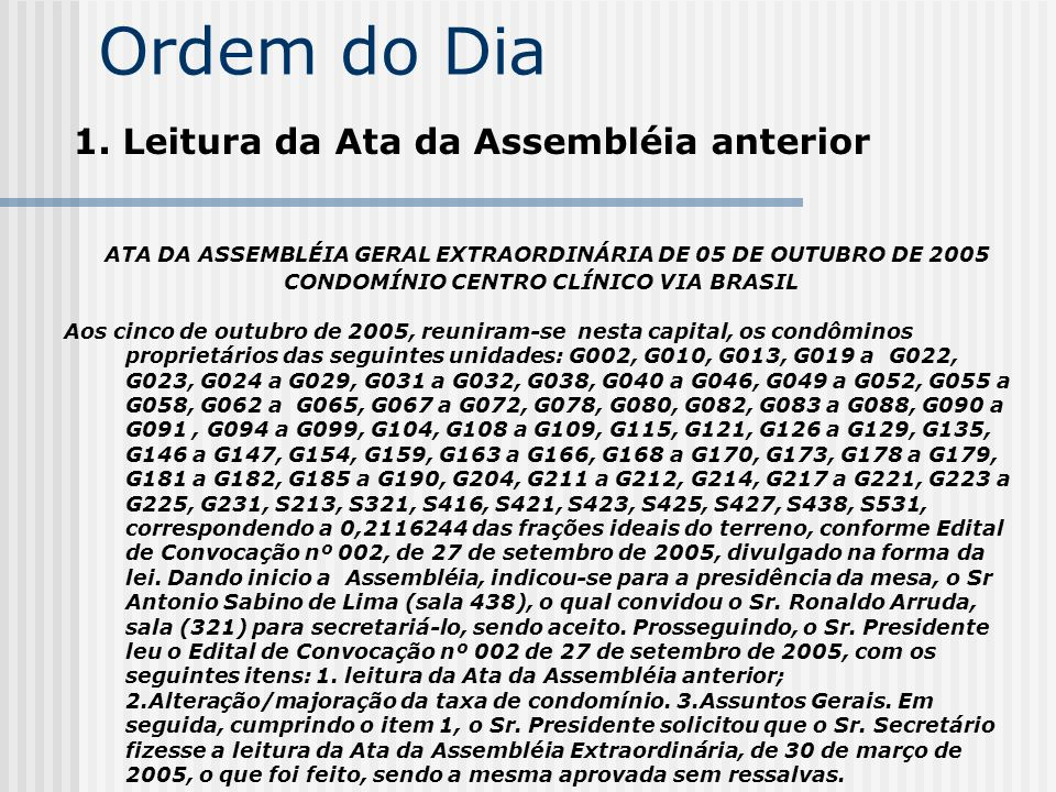 CONDOMÍNIO CENTRO CLÍNICO VIA BRASIL