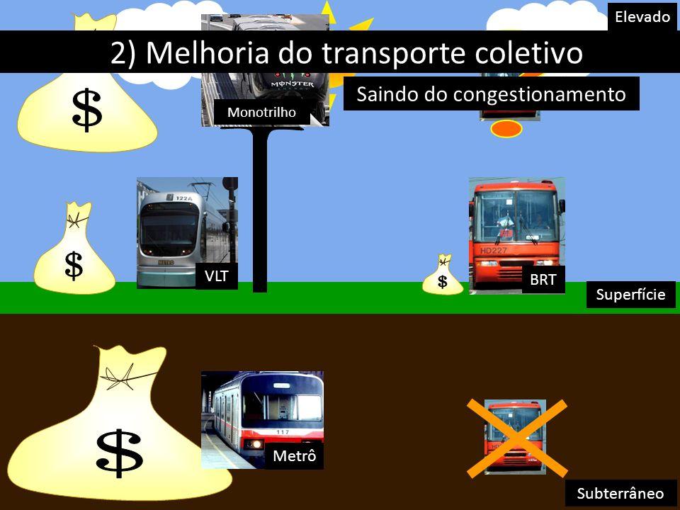 $ $ $ $ 2) Melhoria do transporte coletivo Nº2