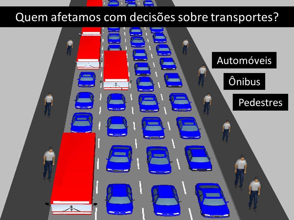 Quem afetamos com decisões sobre transportes
