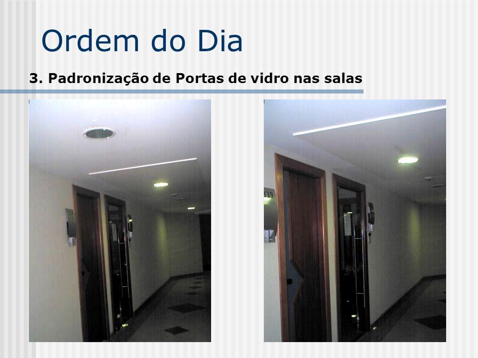 Ordem do Dia 3. Padronização de Portas de vidro nas salas