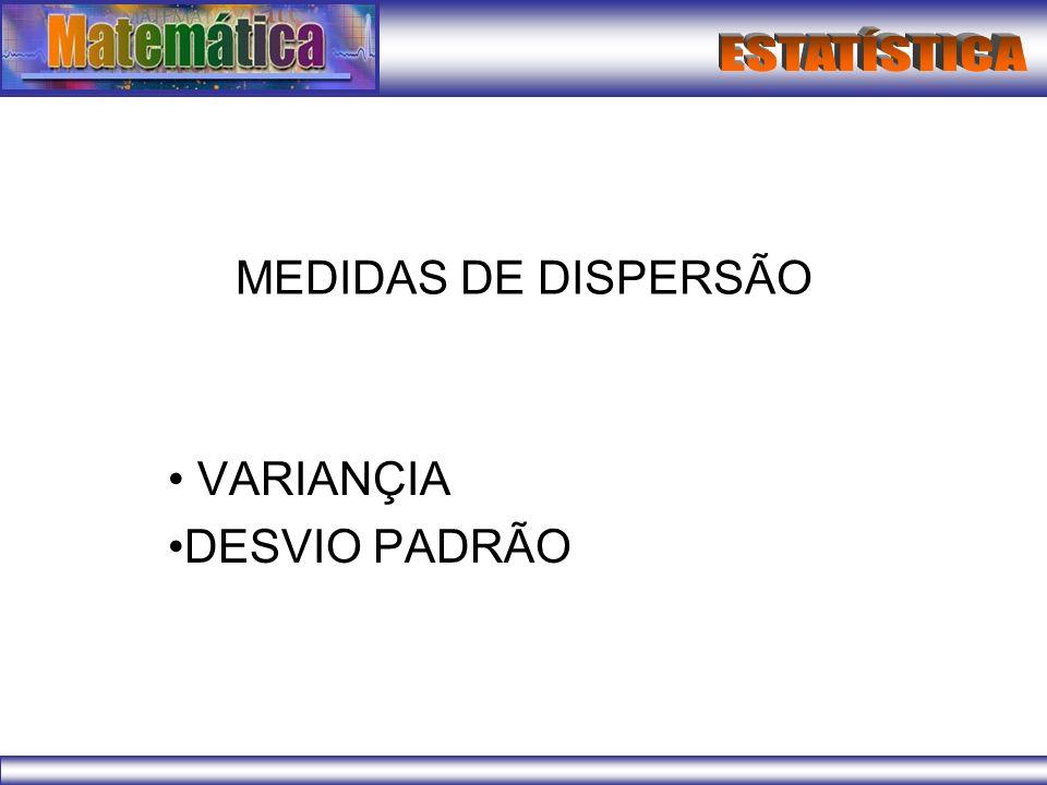 VARIANÇIA DESVIO PADRÃO
