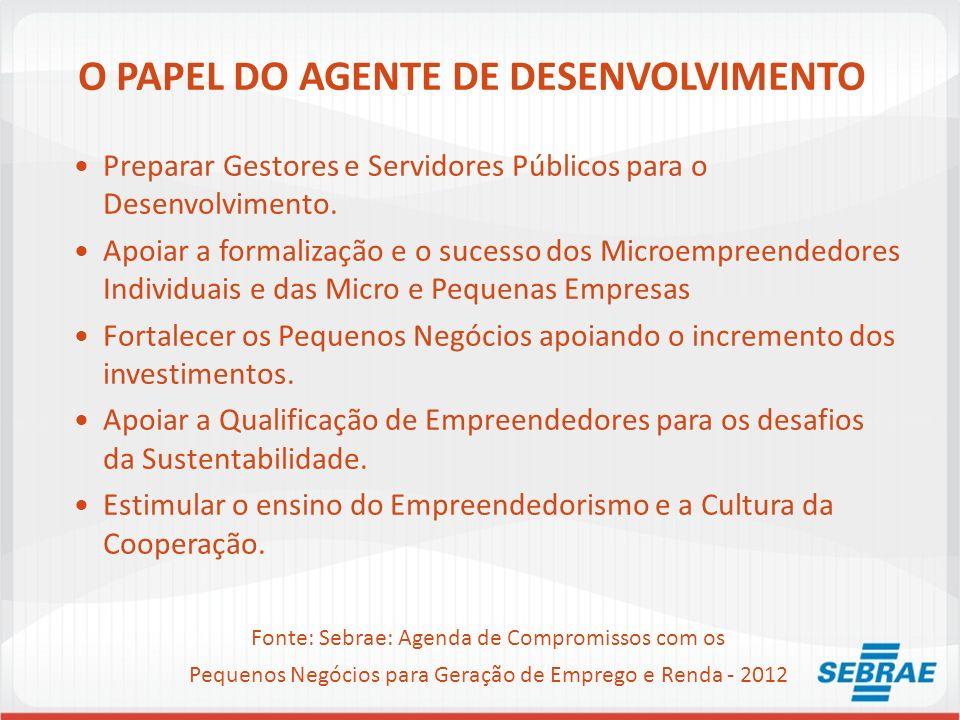 O PAPEL DO AGENTE DE DESENVOLVIMENTO