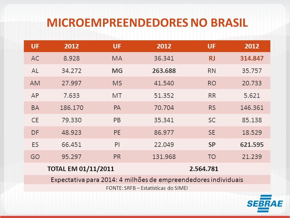 MICROEMPREENDEDORES NO BRASIL