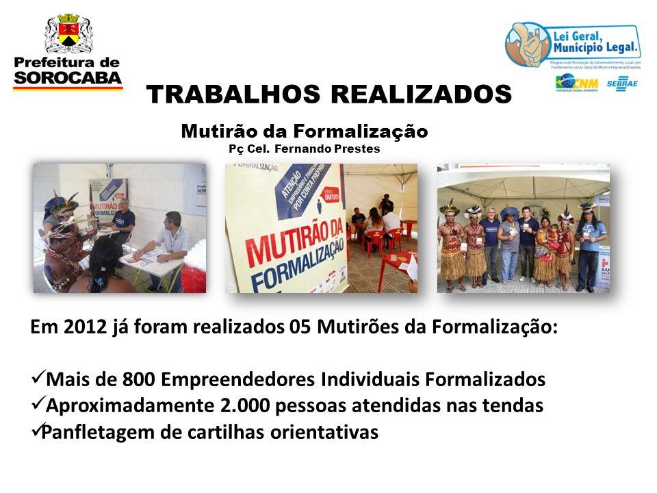 Mutirão da Formalização Pç Cel. Fernando Prestes