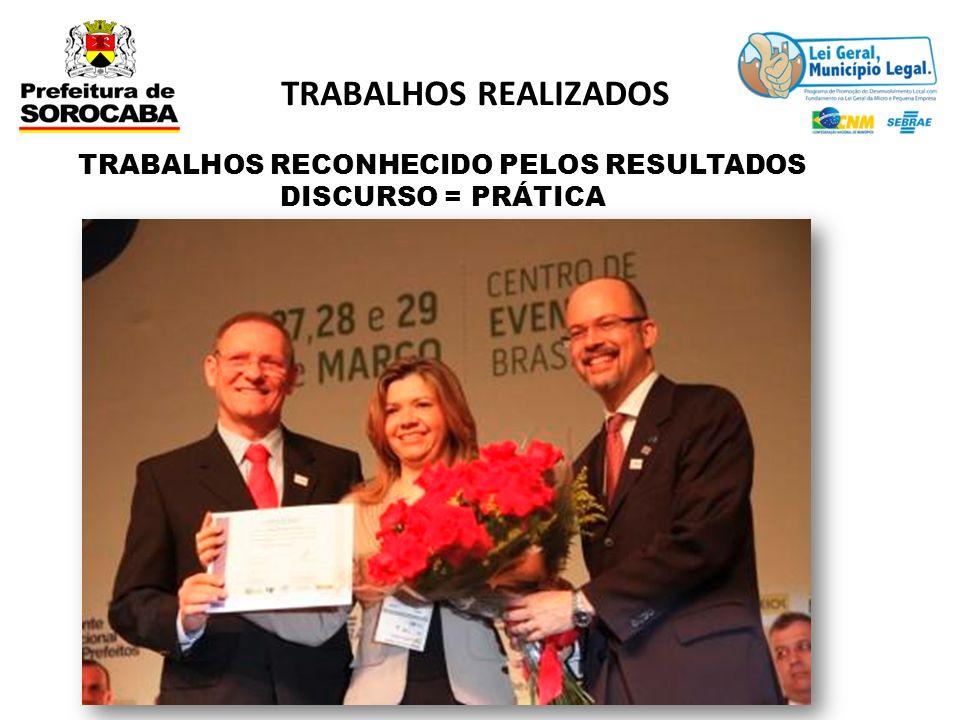 TRABALHOS RECONHECIDO PELOS RESULTADOS