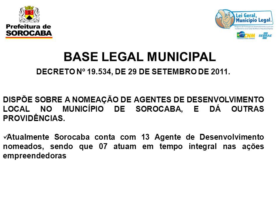 DECRETO Nº 19.534, DE 29 DE SETEMBRO DE 2011.
