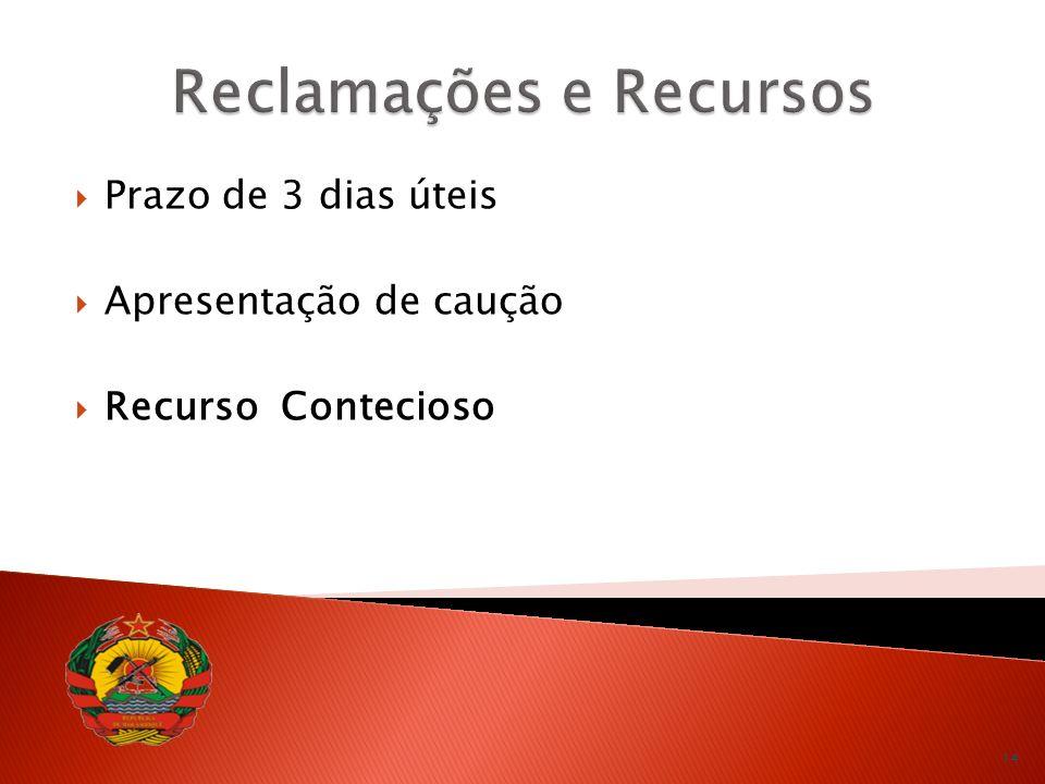 Reclamações e Recursos