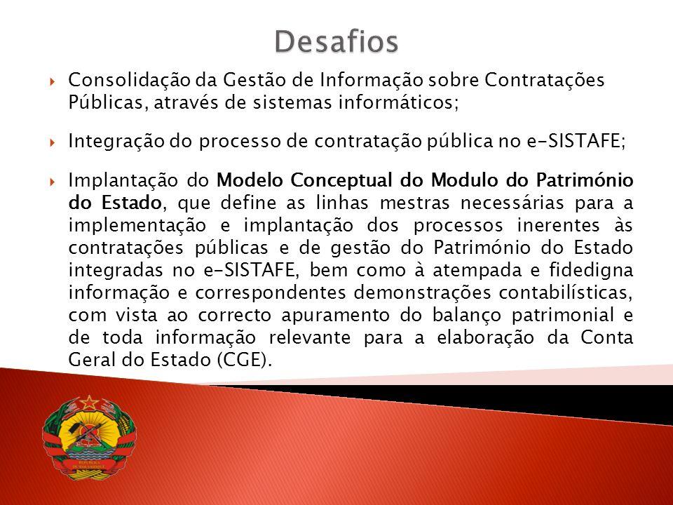Desafios Consolidação da Gestão de Informação sobre Contratações Públicas, através de sistemas informáticos;