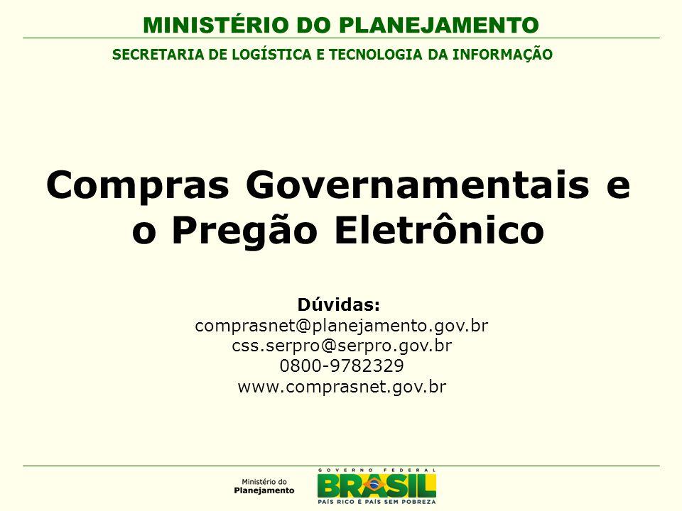 Compras Governamentais e o Pregão Eletrônico