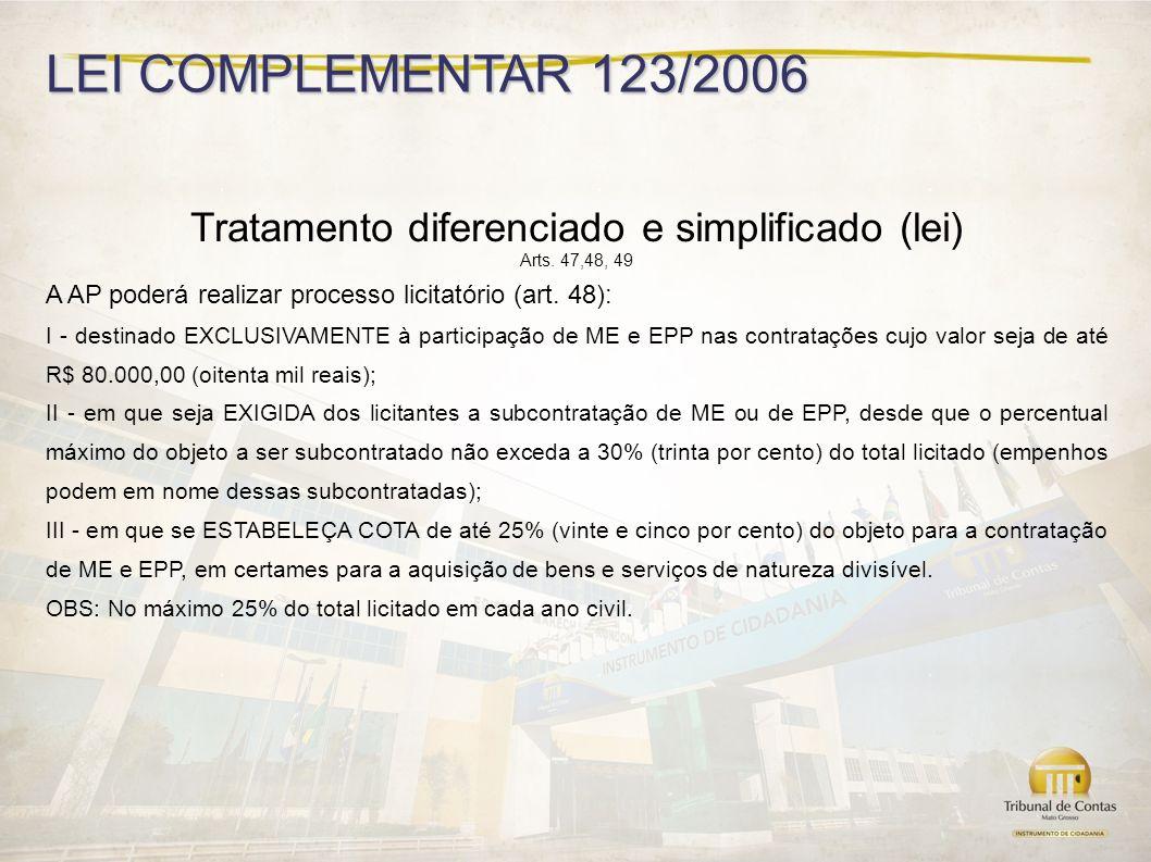 Tratamento diferenciado e simplificado (lei)