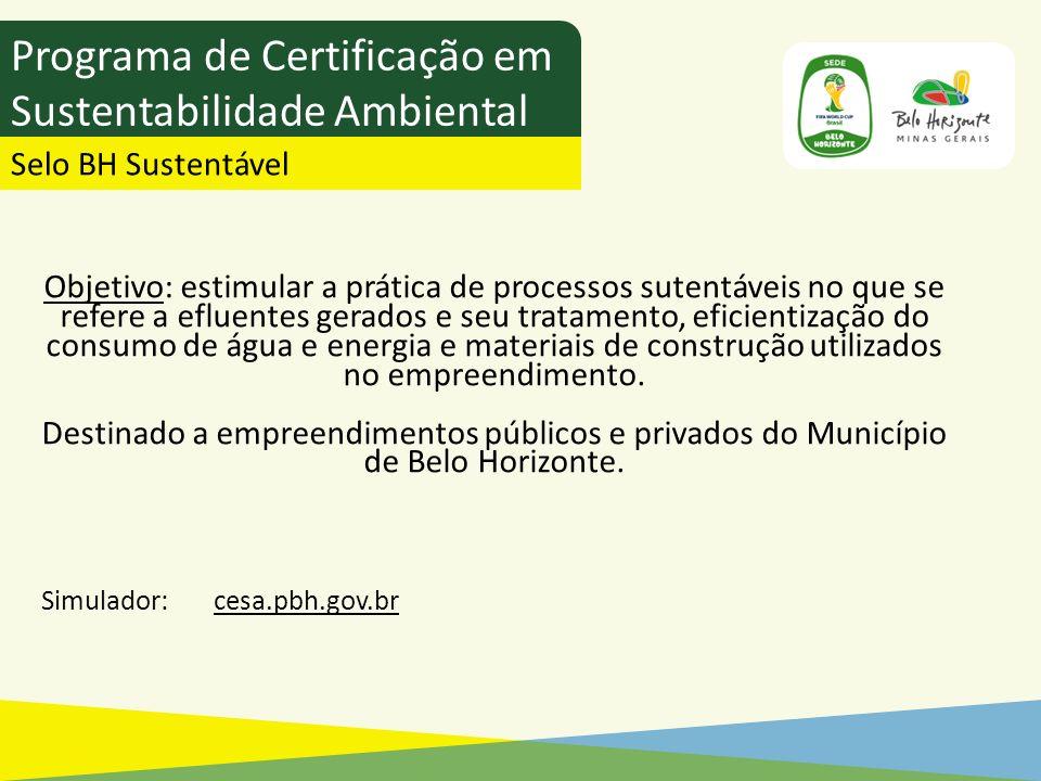 Programa de Certificação em Sustentabilidade Ambiental