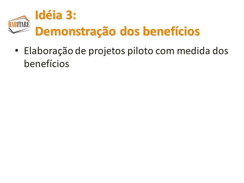 Idéia 3: Demonstração dos benefícios