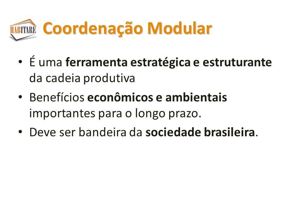 Coordenação Modular É uma ferramenta estratégica e estruturante da cadeia produtiva.