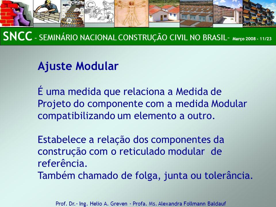 SNCC – SEMINÁRIO NACIONAL CONSTRUÇÃO CIVIL NO BRASIL- Março 2008 - 11/23